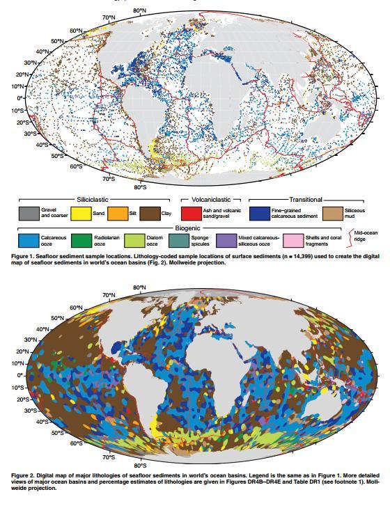 Digital Maps of Seafloor Sediments