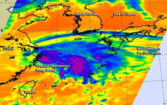 Aqua Satellite Sees Fung-Wong