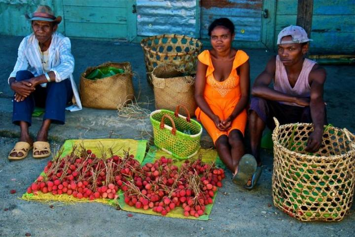 Lychee Sellers in Madagascar