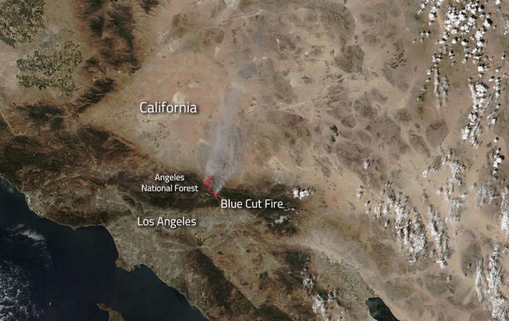 Blue Cut Fire California