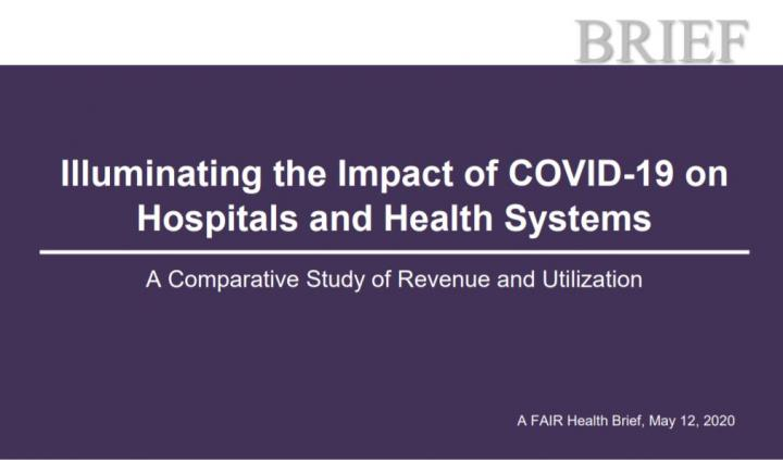 Illuminating the Impact of COVID-19 on Hospitals and Health Systems: A Comparative Study of Revenue and Utilization