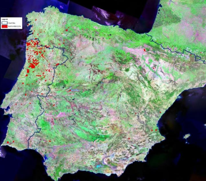 Fire Damage Spain and Portugal