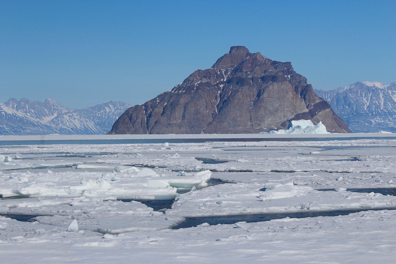 Shorefast sea ice