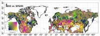 A map of Northern Hemisphere vegetation