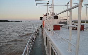 Research Vessel on the Yellow River in China