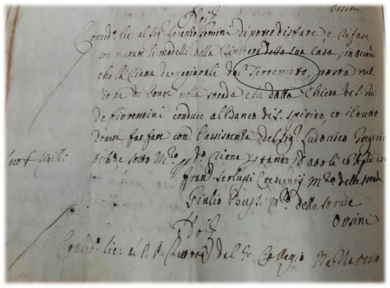 Lettere Patenti for 1703 Roman earthquake damage
