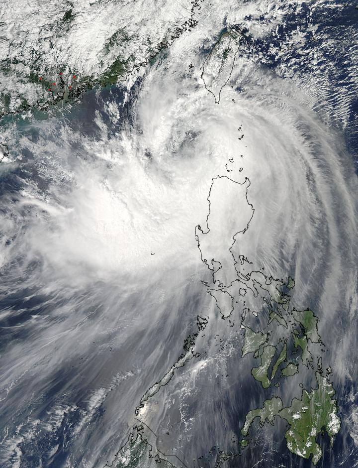MODIS Image of Fung-Wong