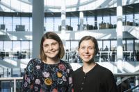 Dr Anna Sigridur Islind and Dr Maria Oskarsdottir at Reykjavik University
