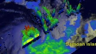 NASA TRMM Satellite Flyby of Cyclone Evan in 3-D