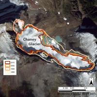 Chaney Glacier Perimeter: 1966, 1998, 2005, 2015.