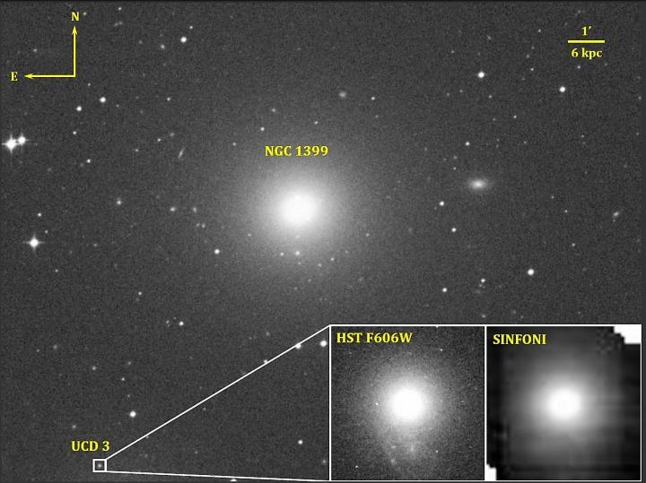 Fig.1 NGC 1399 and UCD3