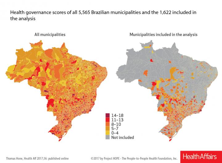 Health Governance Scores All 5,565 Brazilian Municipalities and the 1,622 Included in the Analysis