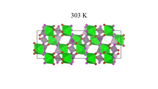 Atomic rearrangement that looks shrinking when warmed