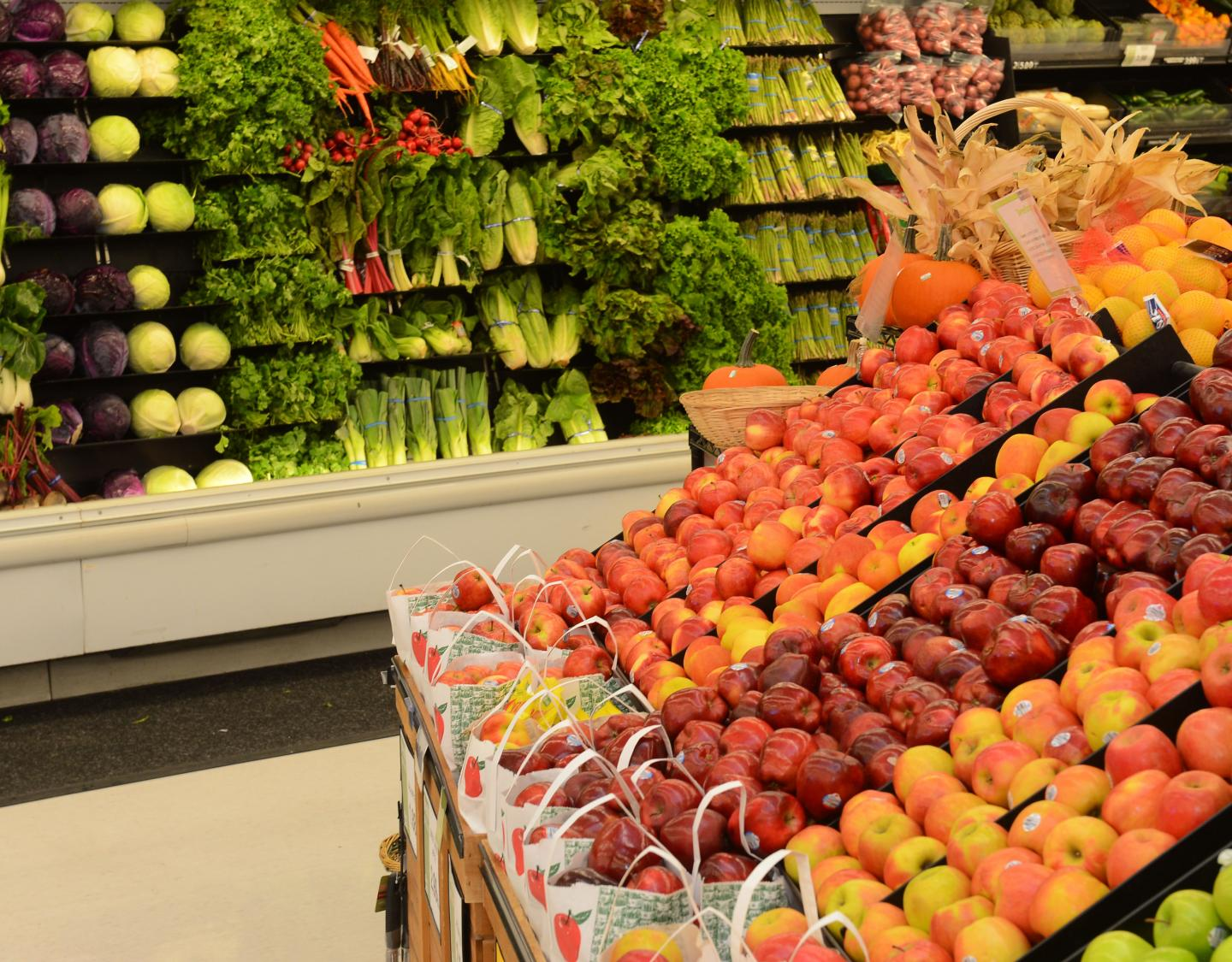Produce Aisle of Grocery Store