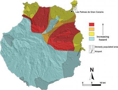Volcanic Hazard Map in Gran Canaria.