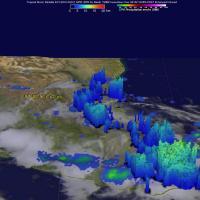 GPM Sees Danielle's Rainfall Rates