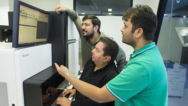 Associate Professor Arcos-Burgos. Dr. Claudio Mastronardi, And Dr. Hardip Patel, ANU