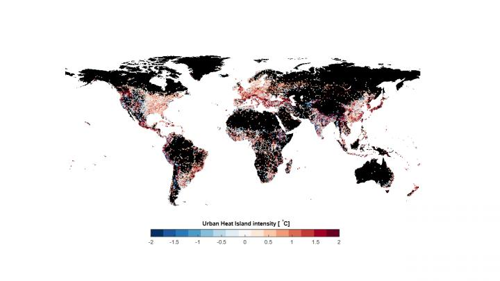 The Map Shows in Which Cities the Heat Island Effect Is Most Significant