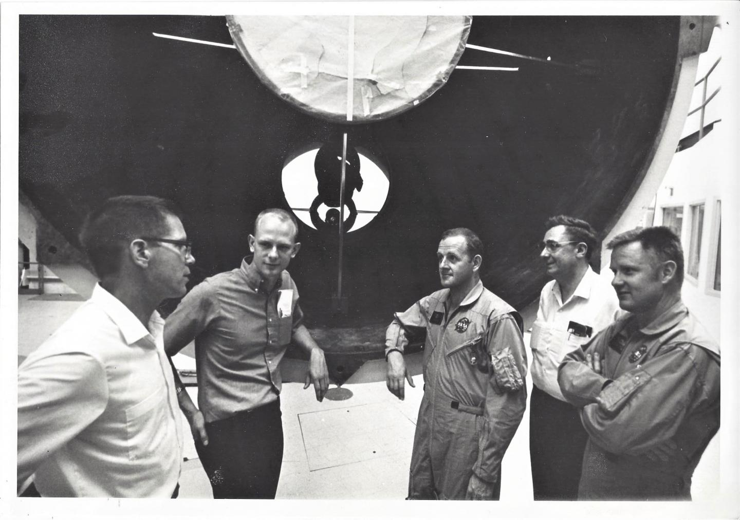 UMD physicists Doug Currie & Carroll Alley with McDonald Observatory Dir. Harlan Smith and NASA Scientists-Astronauts (1969)