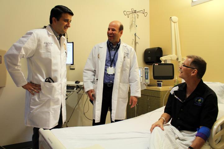 Sandip Patel, Dan Kaufman and Patient, UC San Diego Health
