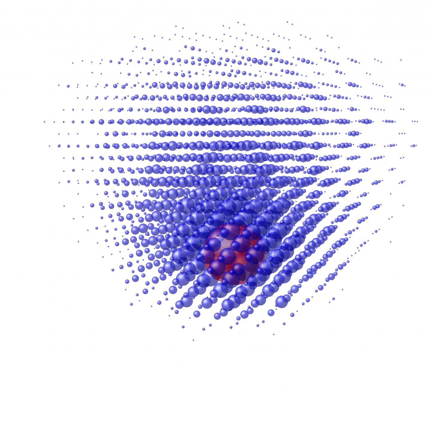 Electron Wave in a Phosphorus Atom, Distorted by a Local Electric Field