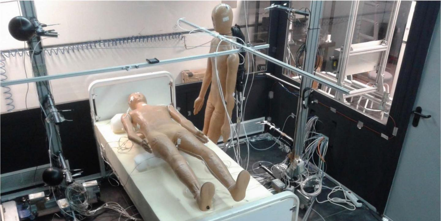 Image of Two Mannequins in the Test Room Used by the Research Group