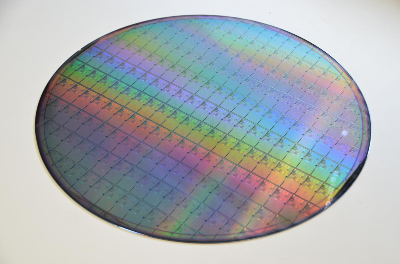 A wafer filled with memristors