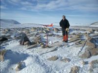 Ian Dalziel at Bear Peninsula, Antarctica