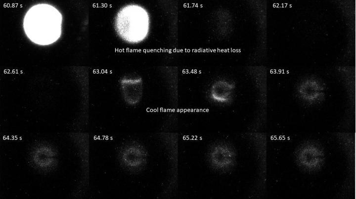 Faint emissions of a cool flame