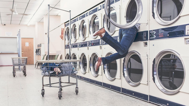 Guy in Laundromat