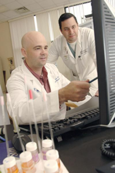 Drs. Jeffrey Browning and Shawn Burgess, UT Southwestern Medical Center