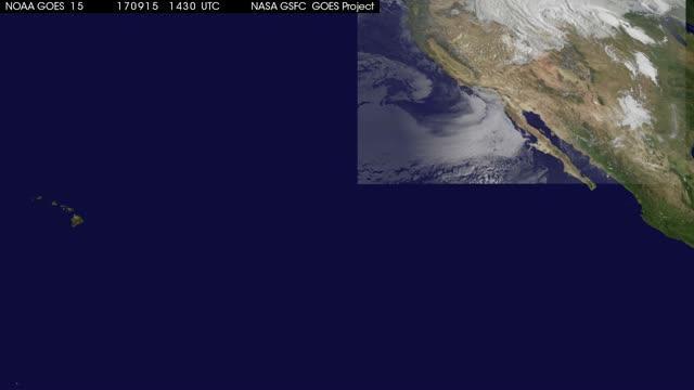 Satellite Animation Shows Hurricanes Norma and Otis