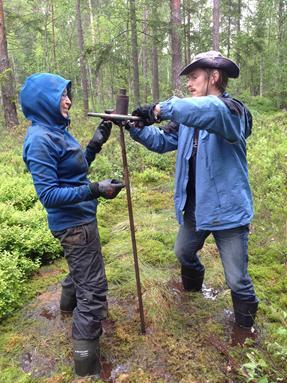 Field Work at Ancient Lake Site of Hässeldala
