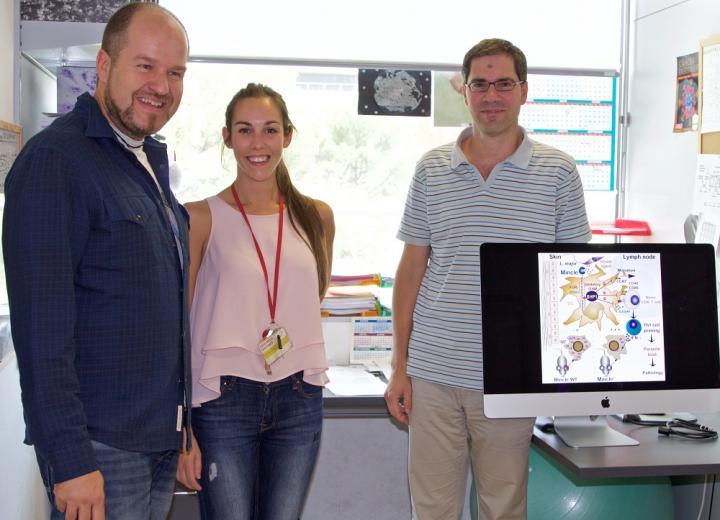 CNIC Researchers Salvador Iborra, María Martínez, and David Sancho