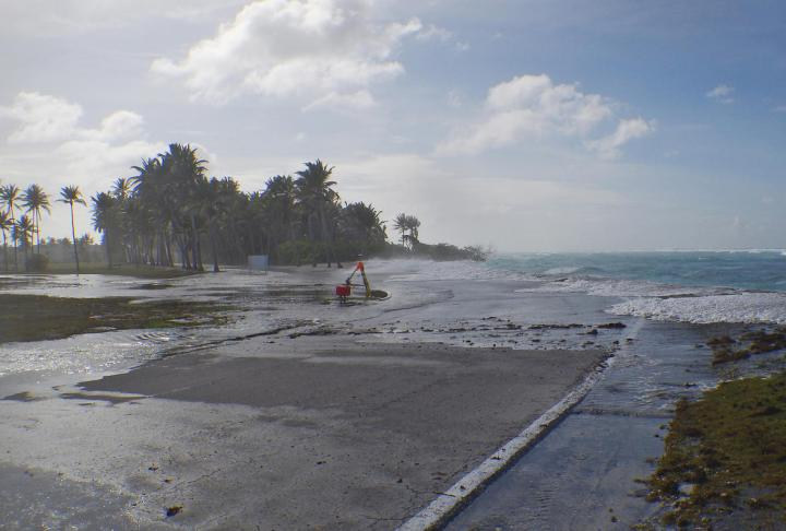Wave-driven Flooding and Overwash on Roi-Namur Atoll 2
