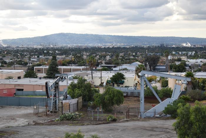 Oil wells in Signal Hill, California