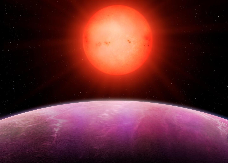 Artist's Impression of Sunrise on Planet NGTS-1b