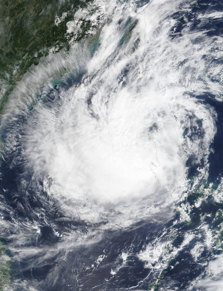 NASA's Terra satellite saw Tropical Storm Koppu
