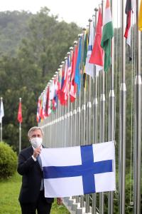Flag-Raising Ceremony for Finnish Accession to IVI