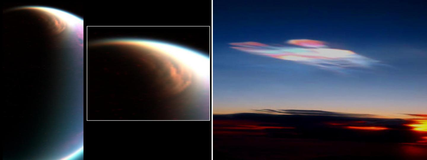 Cloud in the Stratosphere Over Titan's North Pole