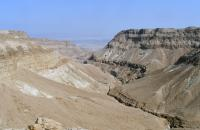 View of the Dead Sea and the southern Judean Desert
