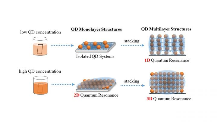 Schematics of quantum dot (QD) layer structures