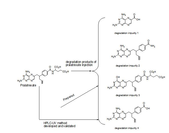 Preparation, Characterization and Validation of Major Degradation Products of Pralatrexate Injection