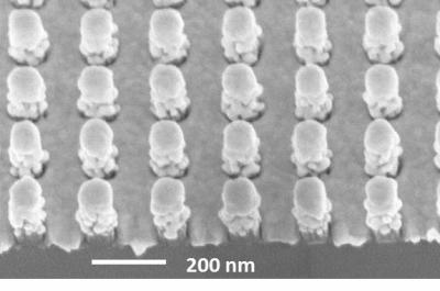 Pillars on Raman-Sensing Chip