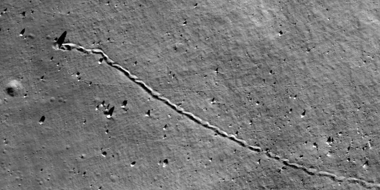 Rockfall on the Moon