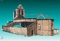 3-D Model Photo of the Valberzoso Church (Palencia, Spain)