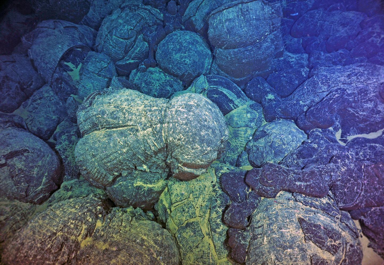 Pillow Basalt from Submarine Eruptions