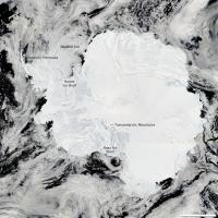 Satellite View of Antarctica