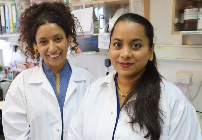 (Left to right): Prof. Carmit Levy &  PhD student Roma Parikh.