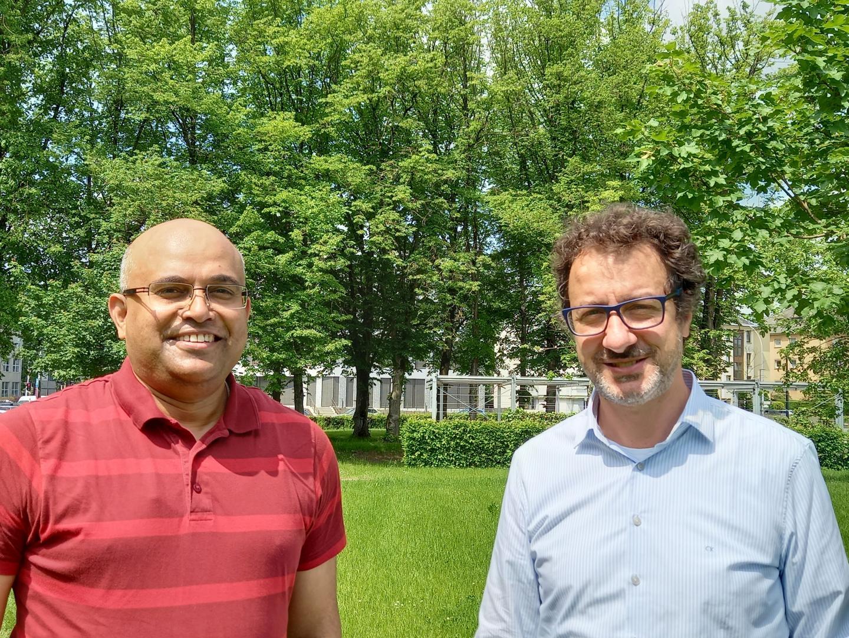 Drs Amit Kulkarni (left) and Antonio Marchini (right) from LOVIT